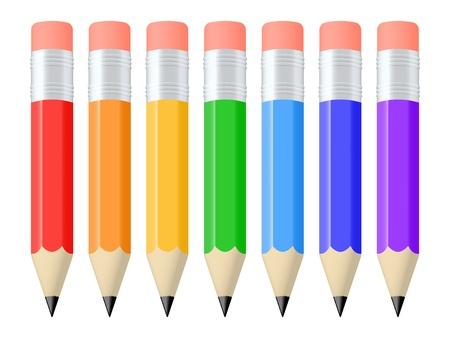 Set of colorful pencils  Vector illustration Vectores