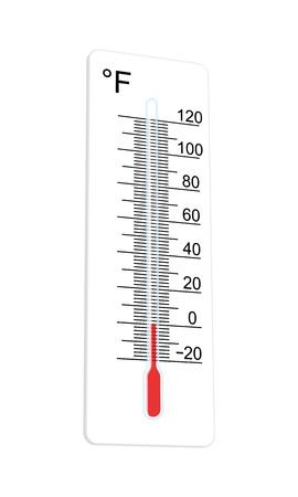 Thermometer indicates extremely low temperature  illustration Stock Vector - 16555216