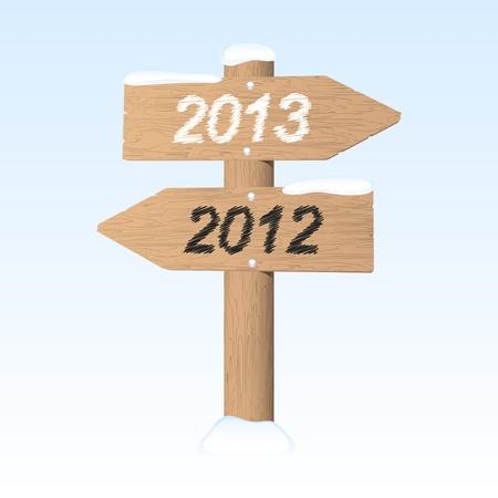 New Year 2013 sign  illustration Illustration