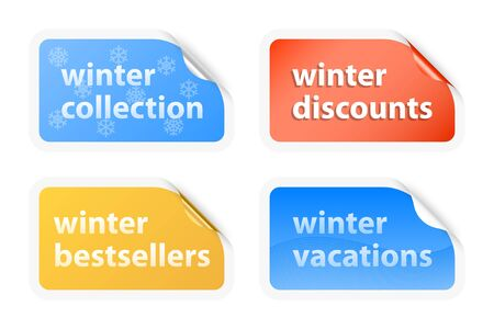 Winter vacations labels  illustration Stock Vector - 16555222
