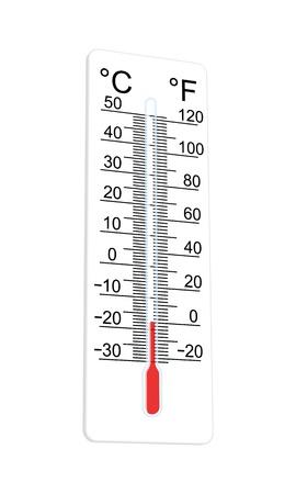 예측: 온도계는 매우 낮은 온도를 나타냅니다 일러스트
