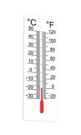 Thermometer indicates extremely low temperature