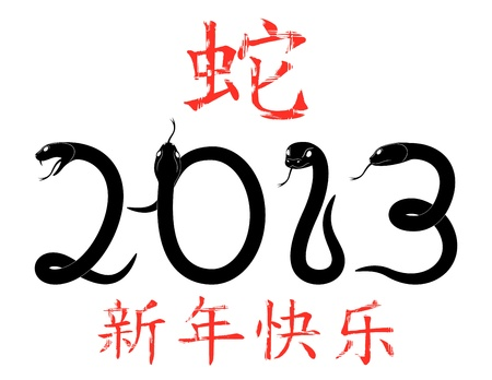 Chinese New Year of the Snake 2013  Stock Vector - 16643454
