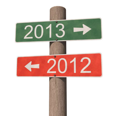 New Year 2013 sign  3d illustration Stock Illustration - 16643468