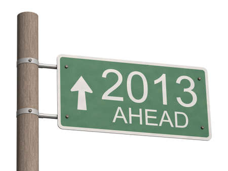 New Year 2013 sign  3d illustration Stock Illustration - 16699878