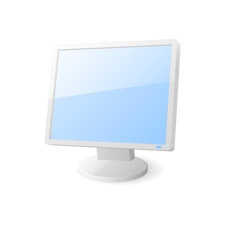 Computer monitor icon. Stock Vector - 18346185