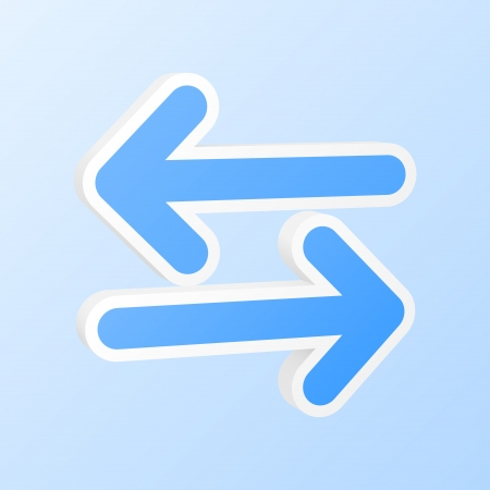sincronizacion: Flechas de sincronizaci�n icono.