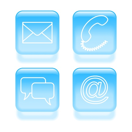 Set of customer support icons  Vector illustration  Vector
