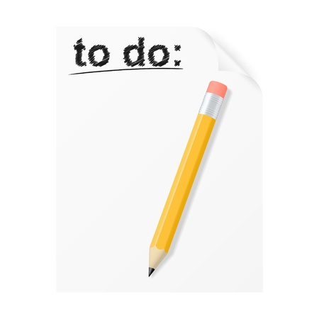 to do list: To do list  Vector illustration