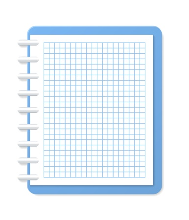 Blank checkered notebook  Vector illustration Stock Vector - 18556208