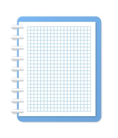 Blank karierten Notebook Vector illustration