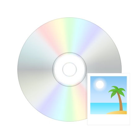 blu ray: Photo disk icon  Vector illustration