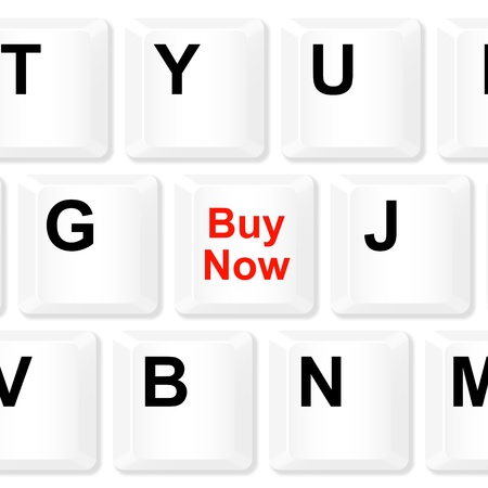 Buy now keyboard button  Vector illustration Stock Vector - 18556210