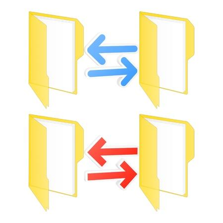 sincronizacion: Sincronizaci�n de carpetas icono Ilustraci�n vectorial