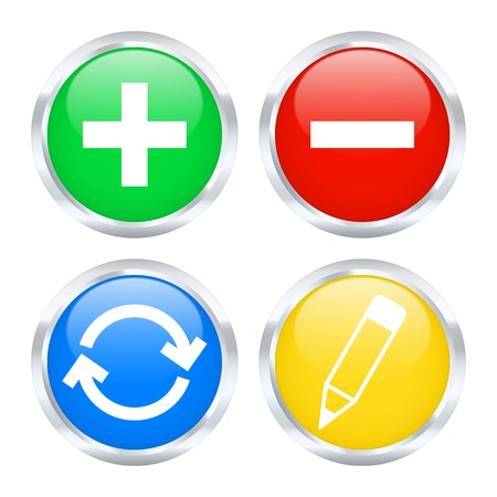 Set of edit web buttons illustration  Vector