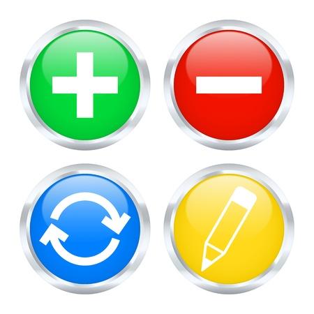 modify: Set of edit web buttons illustration
