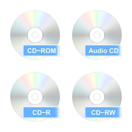 cd r: CD disk icons  Vector illustration