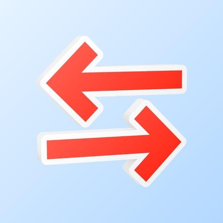 flèche double: Synchronisation flèches icône Vector illustration