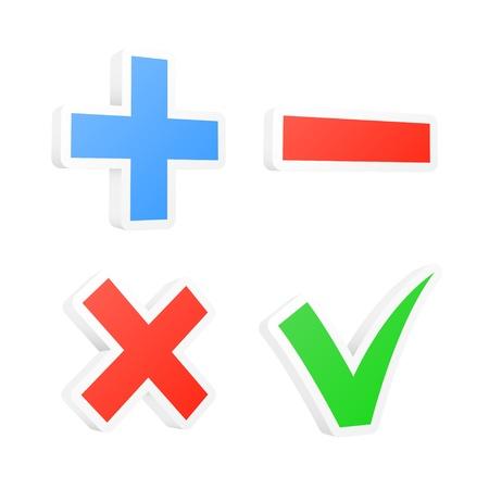 3d checkbox symbols  illustration  Stock Vector - 18982330