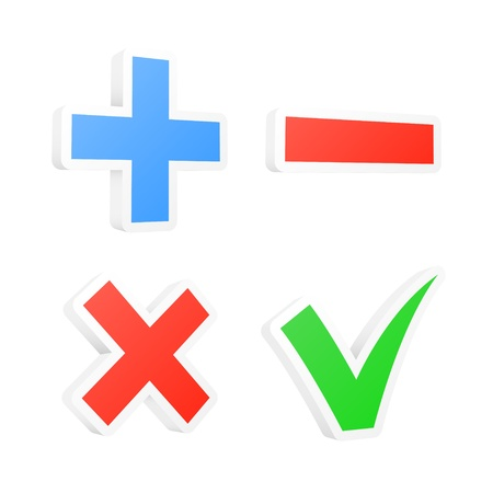 accept: 3d checkbox symbols  illustration