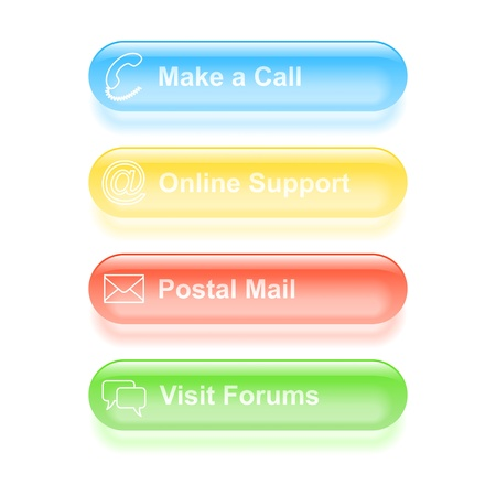 Set of customer support labels  illustration Stock Vector - 18982365