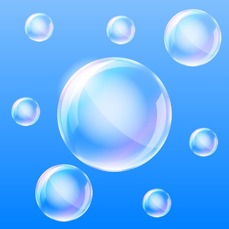 Realistic air bubbles in the water illustration  Vector