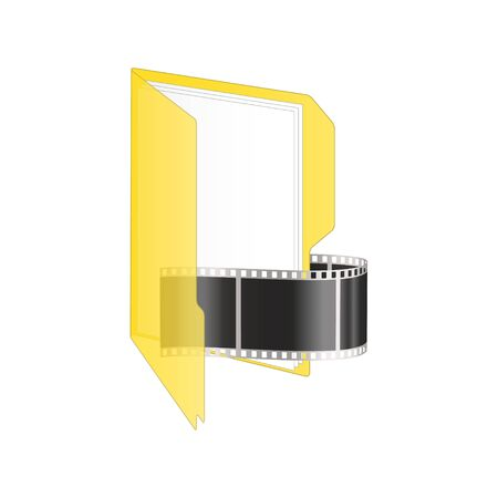 archive site: Video icon illustration