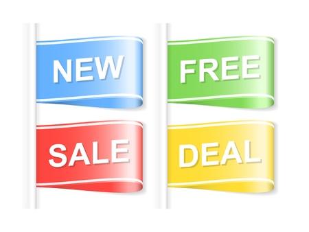 giveaway: Conjunto de etiquetas de compras ilustraci�n