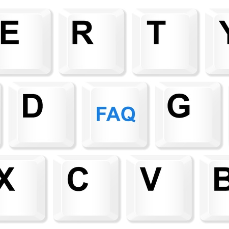 frequently: FAQ keyboard button illustration