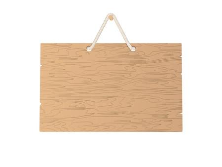 Blank wooden plate illustration Stock Vector - 19260104