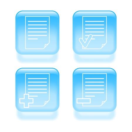 modificar: Vidrioso documento icónico.