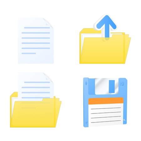 Set of document icons.  illustration. Vector