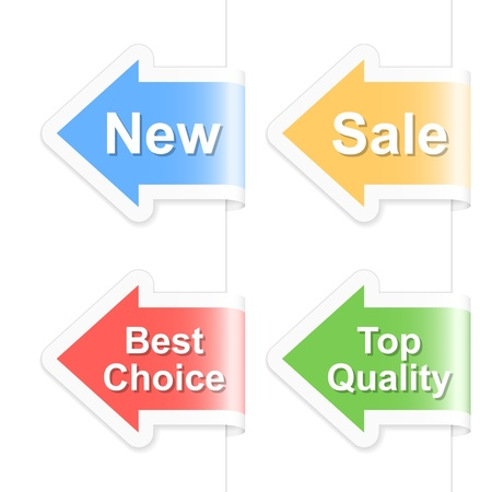 Arrow shopping labels.  illustration.
