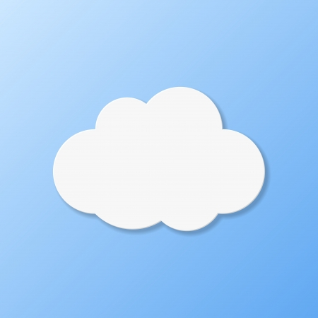 Weather icons. Cloudy weather illustration. Vector
