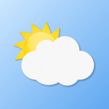 Weather icons. Fair weather illustration. Vector