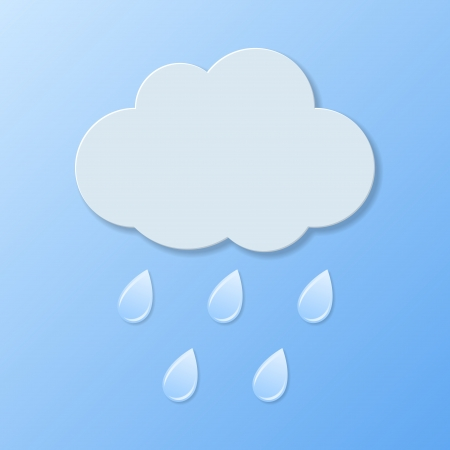 Weather icons. Rainy weather illustration. Vector