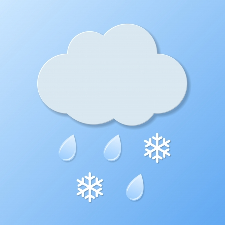 very windy: Weather icons. Rain and snow. Vector illustration. Illustration