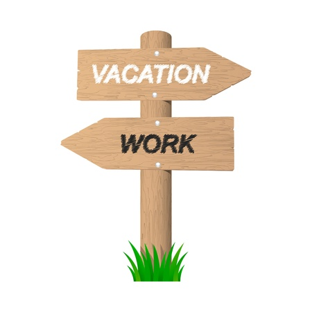 Vacation wooden sign  Vector illustration  Stock Vector - 20852977