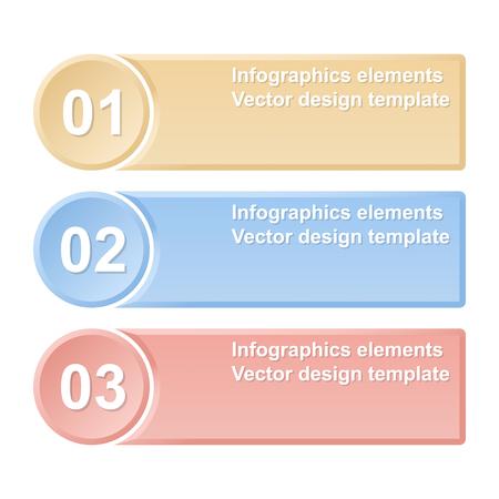 Genummerd banners. Infographics elementen illustratie. Stock Illustratie