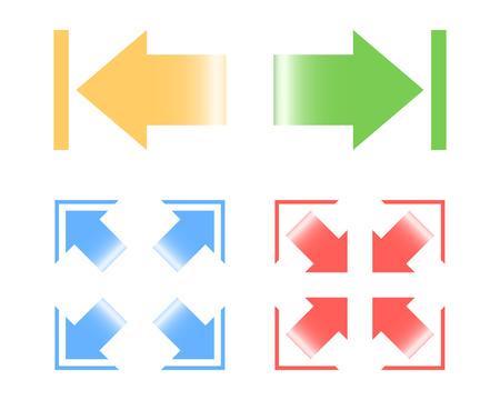 derrumbe: Ver imágenes de la interfaz web. Ilustración del vector. Vectores