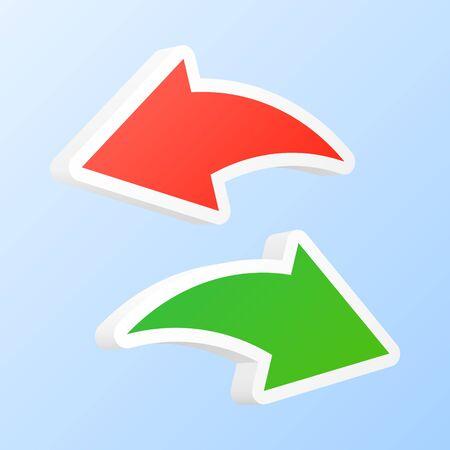 modificar: Deshacer y rehacer flechas. Ilustración del vector.