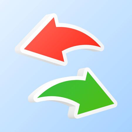 back and forth: Undo and redo arrows. Vector illustration.