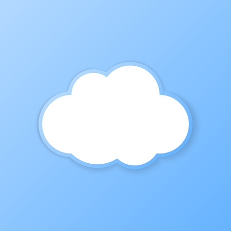 storage device: Cloud banner. Paper cut out. Vector illustration. Illustration