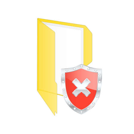 rootkit: Protected shield Risk. Vector illustration.
