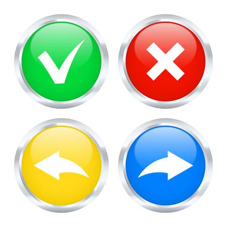 modificar: Conjunto de botones Deshacer y Rehacer. Ilustración del vector.