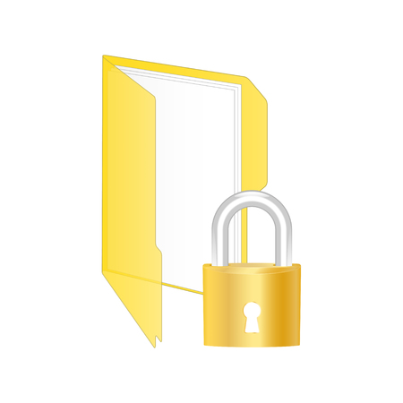 encrypted files icon: Protected icon. Vector illustration.