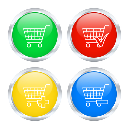 Set of shopping buttons. Vector illustration. Vector