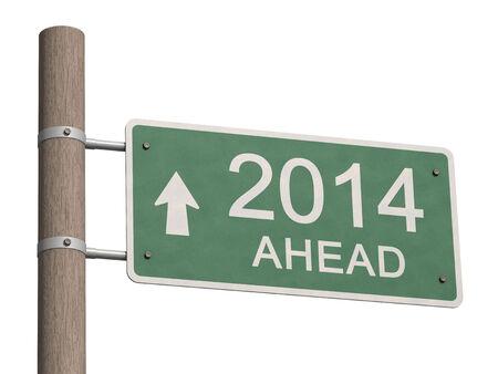 New Year 2014 sign. 3d illustration. Stock Illustration - 23836124
