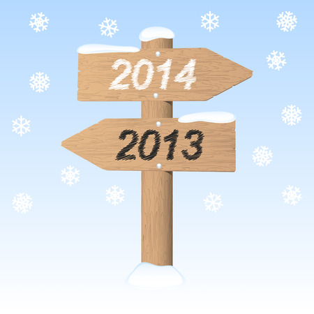 New Year 2014 sign. Vector illustration. Vector