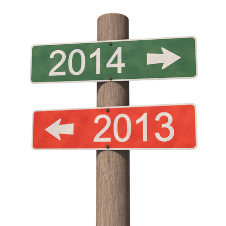 New Year 2014 sign. 3d illustration. illustration